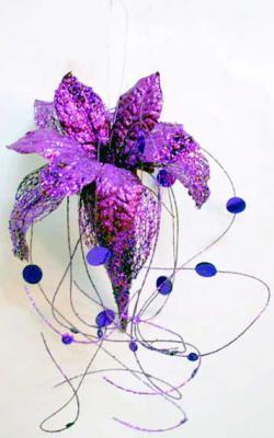 Украшение Winter Wings Волшебный цветок фиолетовый 33 см 1 шт пластик N069859/Ф украшение winter wings цветок полоска фиолетовый 16 см 1 шт n069868 ф