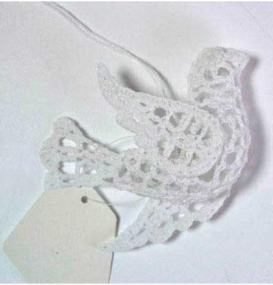 Украшение Winter Wings Голубь вязаный белый 7.5*10.5 см 1 шт хлопок N180225/БЕЛ декоративное украшение umbra mariposa настенное цвет белый 9 шт
