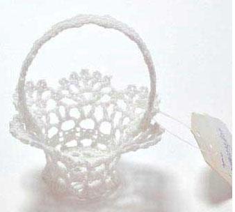 Украшение Winter Wings Корзинка вязаная белый 8*9 см 1 шт хлопок N180232/БЕЛ украшение декоративное вязаное домик 1 шт 9 7 5 см хлопок белый в пакете