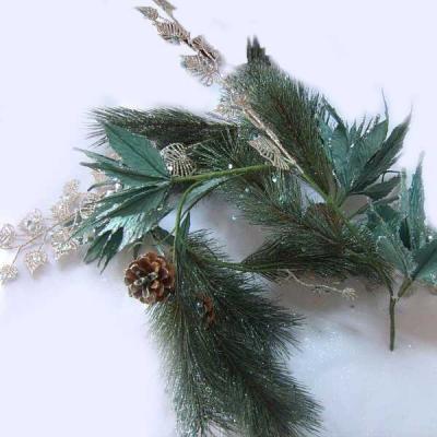 Гирлянда Winter Wings Сосна с цветами зеленый 150 см 1 шт полимер, бумага N069703