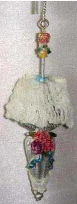 Картинка для Украшение Winter Wings Дамский зонтик с цветком 11 см 1 шт полирезин N180023