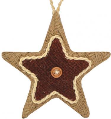 Купить Украшение Winter Wings Звезда коричневый 12.5 см 1 шт полиэстер N181241, Елочные украшения