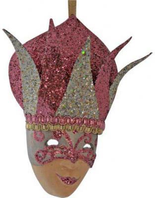 Купить Украшение Winter Wings Маска, блестящая крошка в ассортименте 13 см 1 шт N069199, цвет в ассортименте, Елочные украшения