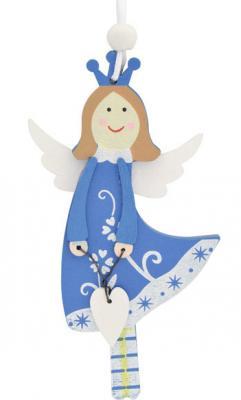 """Украшение Winter Wings """",Подвеска"""", голубой 12 см 1 шт дерево N181549"""