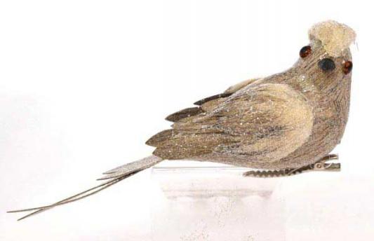 Украшение Winter Wings Птичка коричневый 13 см 1 шт полимер