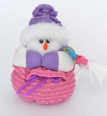 Украшение Winter Wings Снеговичок 12 см 1 шт полиэстер набор новогодних подвесных украшений winter wings колокольчики цвет красный 2 шт