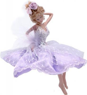 Украшение Winter Wings Фея в лиловом платье лиловый 15 см 1 шт полирезин