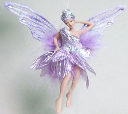 Украшение Winter Wings Фея в светло-фиолетовом платье фиолетовый 15 см 1 шт полирезин кресло алвест av 136 ch 131 cx экокожа 202 слоновая кость