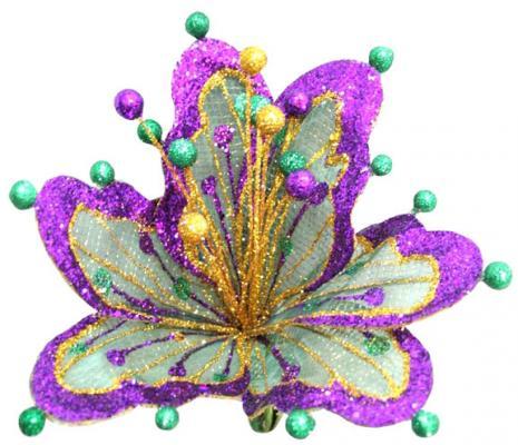 Украшение Winter Wings Цветок ажур 18 см 1 шт полимер N069890/2 для презентации цветок с надписями из семи лепестков