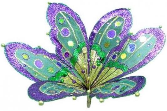 Украшение Winter Wings Цветок ажур 7.5х4.5см 1 шт полимер для презентации цветок с надписями из семи лепестков
