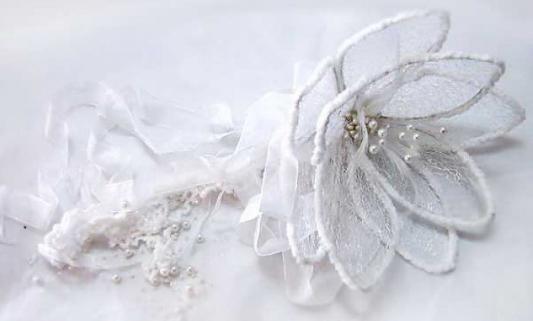Елочные украшения Winter Wings Цветок белый 28 см 1 шт полимер, металл елочные украшения winter wings цветок 27 см 1 шт полиэстер