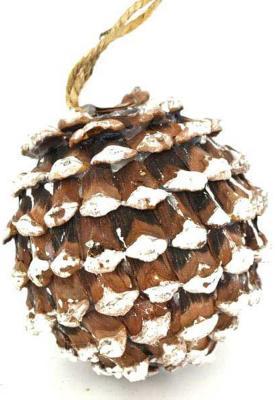 Купить Елочные украшения Winter Wings Шишка коричневый 8 см 1 шт дерево N180125