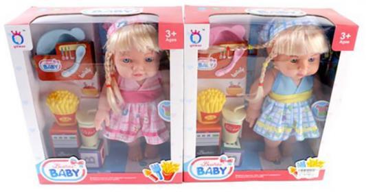 Кукла-повар 30 см, аксесс. 6 предм., озвуч., в ассорт., кор. кукла shantou gepai amore baby 23 см p8872 16 pvc