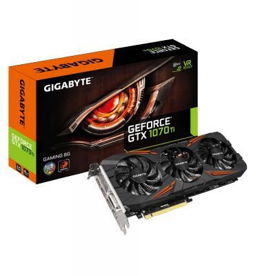 Видеокарта 8192Mb Gigabyte GeForce GTX1070Ti PCI-E 256bit GDDR5 DVI HDMI DP HDCP GV-N107TGAMING-8GD Retail видеокарта gigabyte geforce gtx 1070 8192mb gv n1070wf2oc 8gd dvi hdmi 3xdp ret