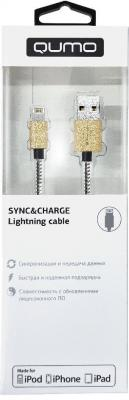 Кабель Lightning 1м QUMO MFI PVC+СoilL круглый 21713