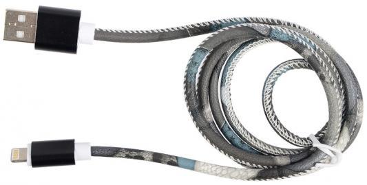 Кабель Lightning 1м Ritmix RCC-422 круглый коричневый кабель lightning 2м ritmix rcc 222 круглый