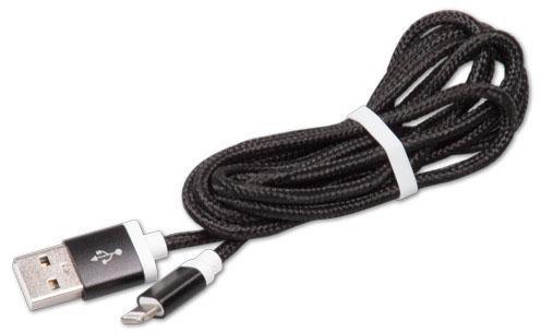 Кабель Lightning 1.5м Ritmix RCC-321 круглый черный кабель lightning 2м ritmix rcc 222 круглый