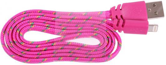 Кабель Lightning 1м LP плоский 0L-00030340 usb кабель lp для apple 8 pin плоская оплетка темно розовый европакет 0l 00030340