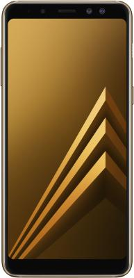 Смартфон Samsung Galaxy A8 (2018) 32 Гб золотистый (SM-A530FZDDSER) смартфон samsung galaxy a8 2018 black sm a530f exynos 7885 2 2 4gb 32gb 5 6 2220x1080 16mp 16mp 8mp 4g lte 2sim android 7 1 sm a530fzkdser
