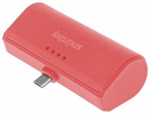Внешний аккумулятор Power Bank 2200 мАч Smart Buy Turbo красный SBPB-230