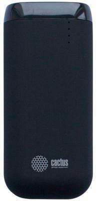 Внешний аккумулятор Power Bank 5200 мАч Cactus CS-PBHTST-5200 черный 2600mah power bank usb блок батарей 2 0 порты usb литий полимерный аккумулятор внешний аккумулятор для смартфонов pink
