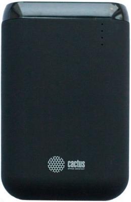 Внешний аккумулятор Power Bank 7800 мАч Cactus CS-PBHTST-7800 черный внешний аккумулятор cactus cs pbas120 2600bk 2600мaч черный