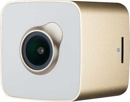 Видеорегистратор Prestigio RoadRunner Cube 1.5 480?240 140° USB Wi-Fi microSD microSDHC белый золотистый