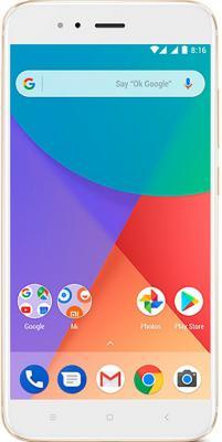 Смартфон Xiaomi MI A1 золотистый 5.5 32 Гб LTE Wi-Fi GPS смартфон asus zenfone live zb501kl золотистый 5 32 гб lte wi fi gps 3g 90ak0072 m00140