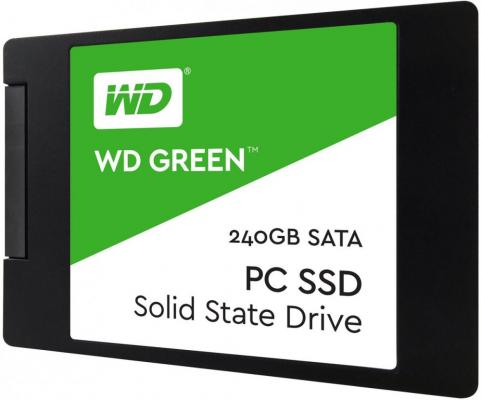 "Твердотельный накопитель SSD 2.5"" 240Gb Western Digital Green Read 545Mb/s SATAIII WDS240G2G0A"