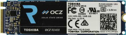 Твердотельный накопитель SSD M.2 128Gb OCZ Toshiba M.2 Read 2200Mb/s Write 620mb/s PCI-E RVD400-M22280-128G usb flash накопитель 128gb kingston hyperx hxs3 128gb usb3 1 черный