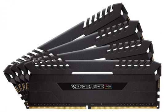 Оперативная память 16Gb (4x16Gb) PC4-21300 2666MHz DDR4 DIMM CL16 Corsair CMR64GX4M4A2666C16 память ddr4 2x8gb 2666mhz corsair cmu16gx4m2a2666c16r rtl pc4 21300