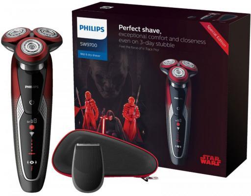 Бритва Philips SW9700/67 красный чёрный бритва бердск 3114 чёрный