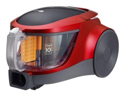 Пылесос LG VK76A01NDR сухая уборка красный чёрный lg lg g360 красный 0 02гб 2 sim
