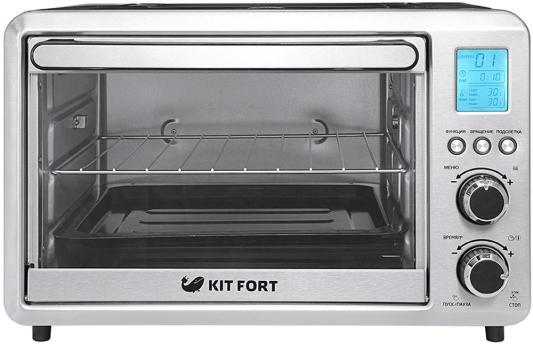 Мини-печь KITFORT КТ-1705 серебристый