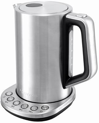 Чайник KITFORT КТ-621 2200 Вт серебристый 1.7 л нержавеющая сталь чайник smeg стиль 50 х годов 2400 вт кремовый 1 7 л нержавеющая сталь klf03creu