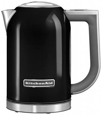 Чайник KitchenAid 5KEK1722 2400 Вт чёрный серебристый 1.7 л нержавеющая сталь чайник electrolux eewa5210 2400 вт 1 5 л металл серебристый