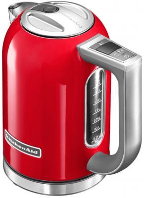Чайник KitchenAid 5KEK1722 2400 Вт красный серебристый 1.7 л нержавеющая сталь чайник electrolux eewa5210 2400 вт 1 5 л металл серебристый