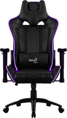 Кресло компьютерное игровое Aerocool AC120 RGB-B черный перфорация RGB подсветка 4713105968255 цена