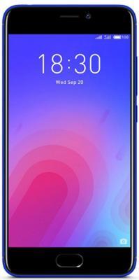Смартфон Meizu M6 синий 5.2 16 Гб LTE Wi-Fi GPS смартфон meizu m6 note золотистый 5 5 16 гб lte wi fi gps