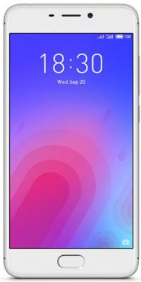 Смартфон Meizu M6 серебристый 5.2 16 Гб LTE Wi-Fi GPS смартфон meizu m6 золотистый 5 2 16 гб lte wi fi gps