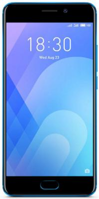Смартфон Meizu M6 Note синий 5.5 16 Гб LTE Wi-Fi GPS смартфон meizu m5 note белый золотистый 5 5 16 гб lte wi fi gps 3g