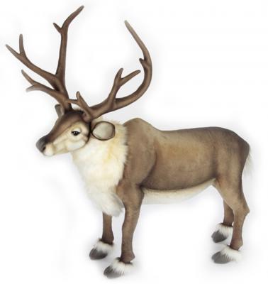 Мягкая игрушка олень Hansa Северный олень стоящий искусственный мех синтепон коричневый 65 см мягкая игрушка собака hansa собака породы чихуахуа искусственный мех синтепон коричневый белый 31 см 6501