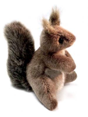 Мягкая игрушка белка Hansa 2129 искусственный мех коричневый 16 см мягкая игрушка белка hansa белка летяга искусственный мех серый 21 см 4116