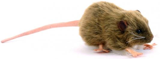 Мягкая игрушка крыса Hansa Крыса бурая искусственный мех коричневый 12 см 5577 мягкая игрушка собака orange чихуа kiki малиновый блеск текстиль искусственный мех розовый коричневый 25 см ld010