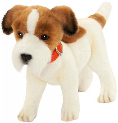 """Мягкая игрушка собака Hansa """"Джек Рассел терьер"""" текстиль плюш белый коричневый 31 см 5901 цена и фото"""