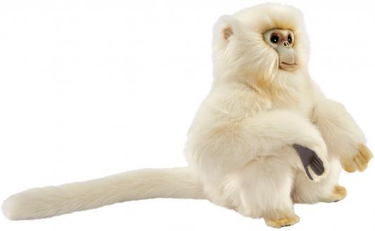 Мягкая игрушка обезьянка Hansa Курносая мартышка искусственный мех белый 30 см 6765 hansa мягкая игрушка чернохвостый заяц 30 см