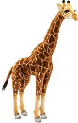 Мягкая игрушка жираф Hansa Жираф 3623 искусственный мех текстиль пластик 85 см игрушка на пружинке жираф