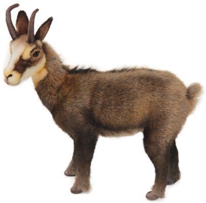 Мягкая игрушка коза Hansa Коза 6318 текстиль искусственный мех пластик коричневый 32 см мягкая игрушка hansa горностай