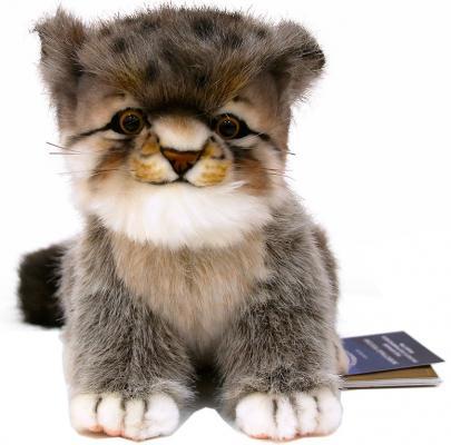 Мягкая игрушка котенок Hansa Котенок манула 7299 текстиль искусственный мех пластик серый 17 см hansa мягкая игрушка утенок