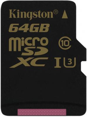 Карта памяти Micro SDXC 64GB Class 10 Kingston SDCG/64GBSP карта памяти micro sdxc kingston sdca10 64gb